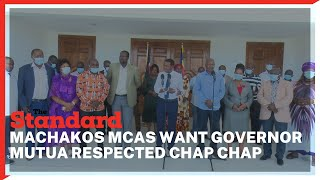 Maendeleo Chap Chap MCAs threaten to shoot down BBI bill if Governor Mutua is not respected