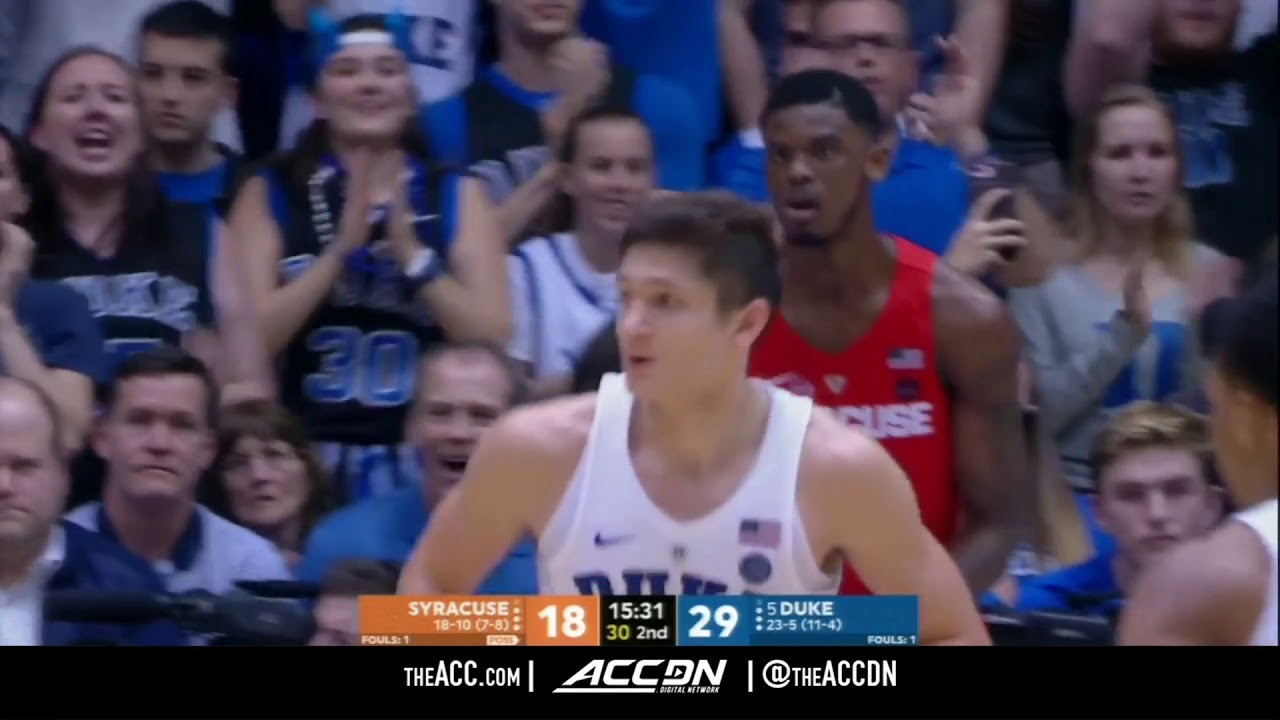 Syracuse Vs Duke College Basketball Condensed Game 2018 Youtube