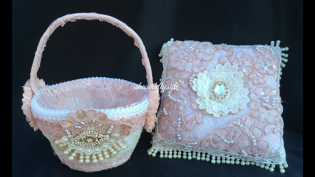 wedding ring cushion flower girl 39 s basket diy wedding