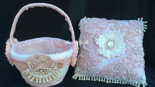Wedding Ring Cushion & Flower Girl's Basket -DIY Wedding Series Episode 3 for Gone Artsy
