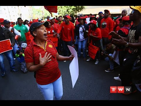 [WATCH] Cosatu paints Johannesburg CBD red