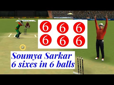 Soumya Sarkar 6 Sixes in 6 Balls in Android Gameplay | Soumya Sarkar Best Batting