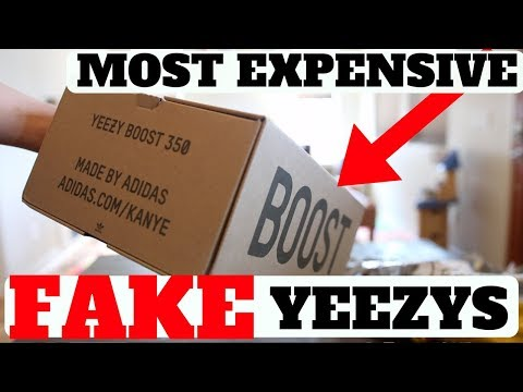 Unboxing The MOST EXPENSIVE FAKE YEEZYS. THIS IS WHAT I GOT...