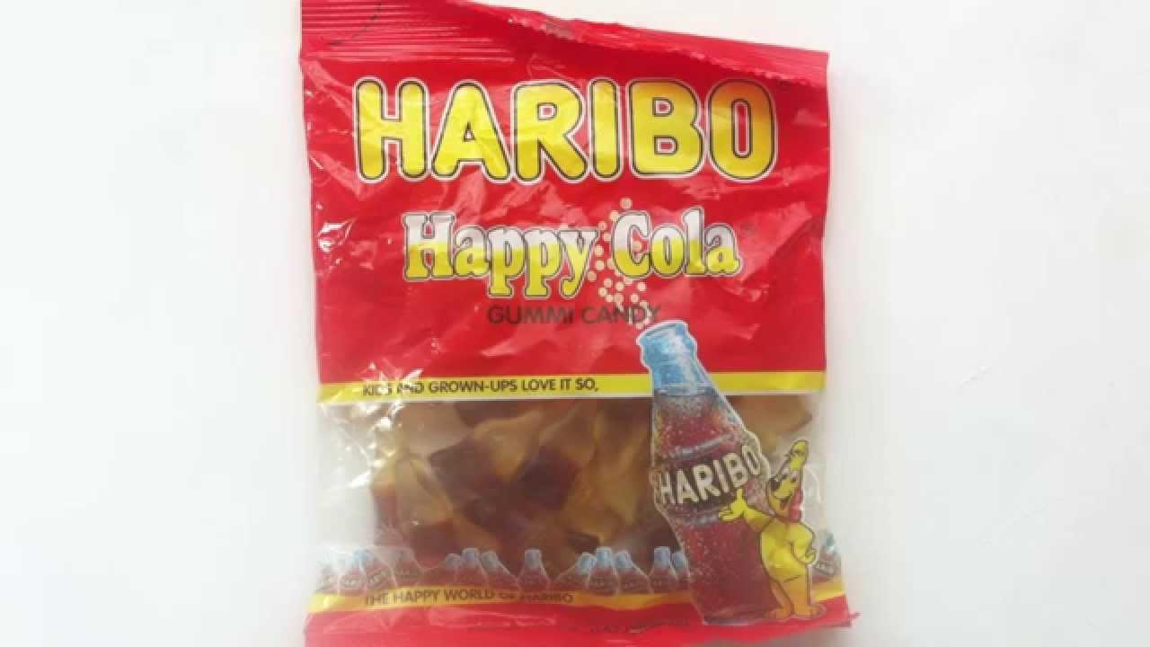haribo happy cola review youtube