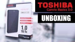 Unboxing / Mini reseña: Toshiba Canvio Basics 3.0 - Disco Duro Externo Portátil 1Tb