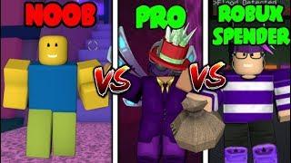 NOOB vs PRO vs ROBUX SPENDER in Flood Escape 2 (Roblox)