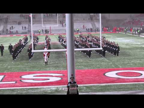 Ohio State Marching Band Post Game Sloopy and Marching Up The Ramp 11 23 2013 vs IN