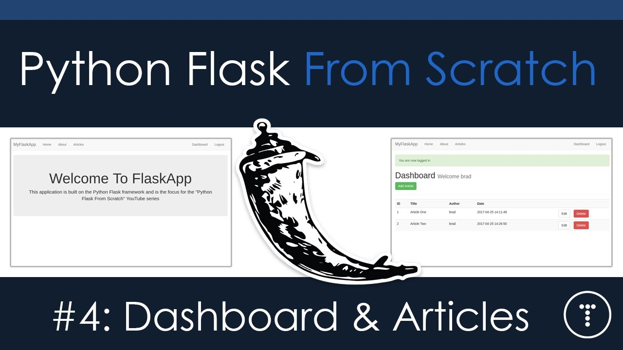Python Flask From Scratch [Part 4] - Dashboard & Articles