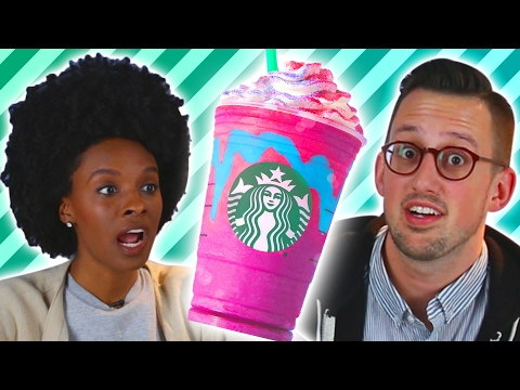 Thumbnail: People Try The New Starbucks Unicorn Frappuccino