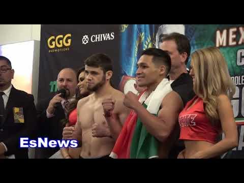 ggg vs vans undercard weigh in EsNews Boxing