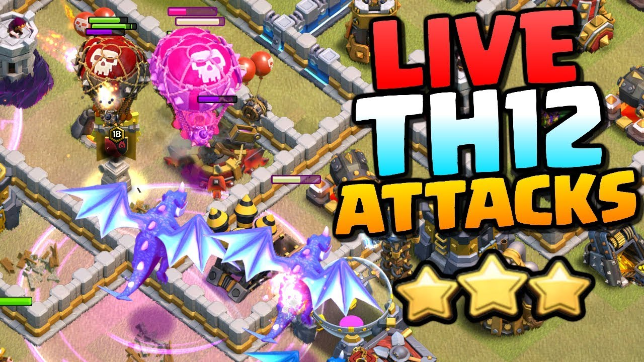 LIVE Town Hall 12 War Attacks - Can We 3 Star? CoC TH12 Attack Strategy | Clash of Clans