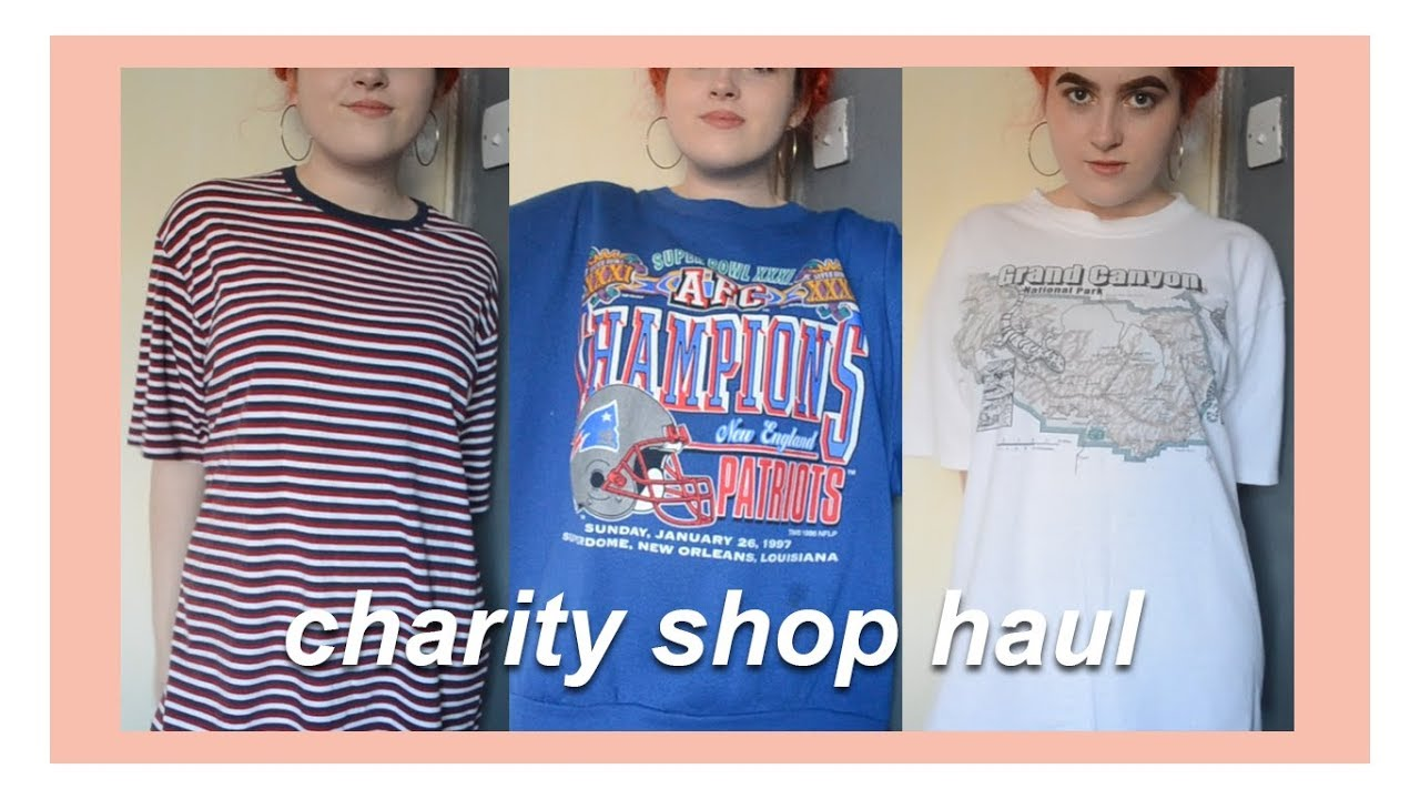 uk charity shop thrift store haul try on vintage home decor