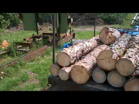 How We Supply The Logs For Our Homemade Bandsaw Sawmill