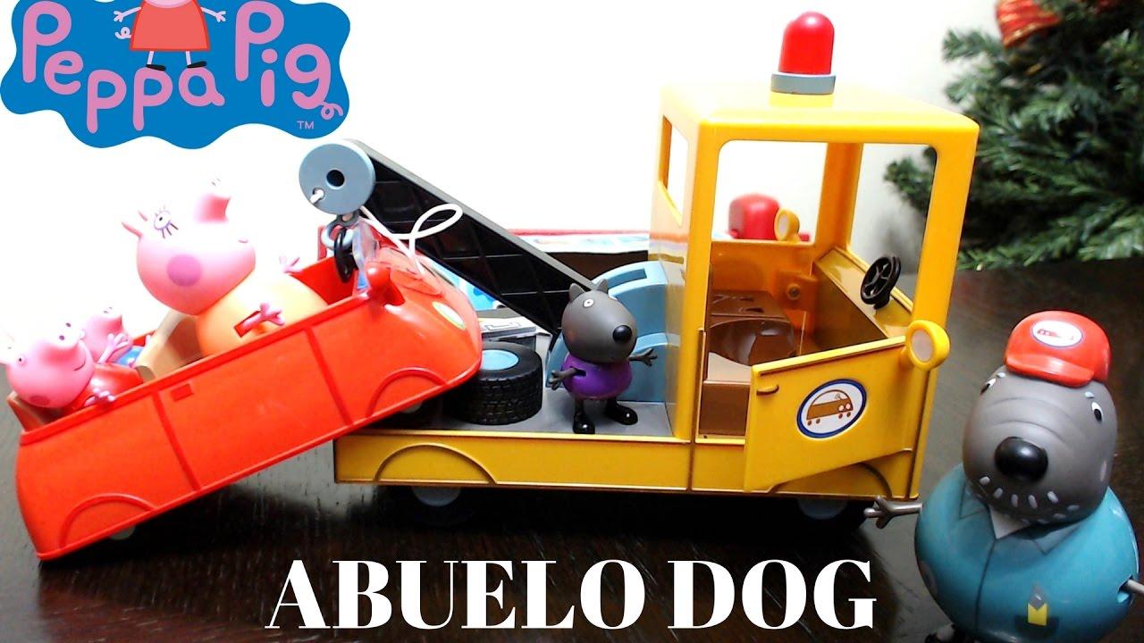 Peppa Pig Grua del Abuelo Dog Grandpa Dog Tow Truck  Juguetes de