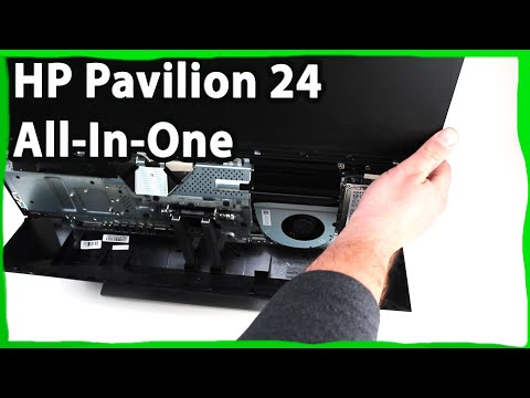 HP Pavilion 24 All In One How to Replace Hard Drive Remove Back Panel PC 24-XA0057c
