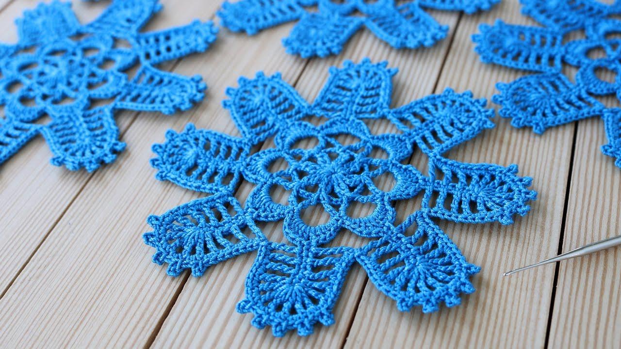 ВЯЗАНИЕ КРЮЧКОМ простого ЦВЕТОЧНОГО МОТИВА для ирландского кружева СХЕМА Crochet flower easy pattern