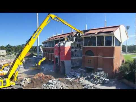 Adelaide Oval Demolition Timelapse