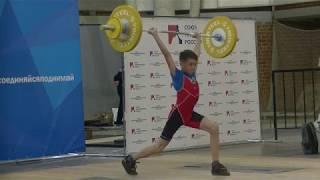 Шумихин Артур, 13 лет, вк 37 Толчок 53 кг Есть рекорд г  Красноуральск и ПЕРВЫЙ разряд!
