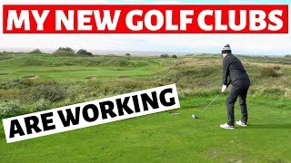 MY NEW GOLF CLUBS ARE WORKING - LINK GOLF COURSE VLOG