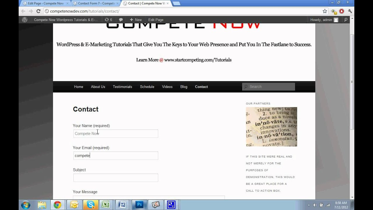 Contact Form 7 Tutorial - How to Add a Form to WordPress - YouTube