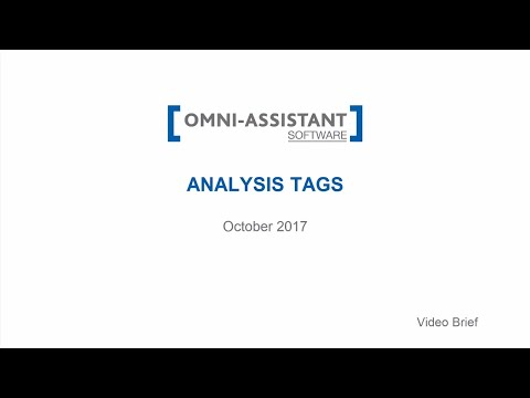 M13 - Analysis Tags - v.9.11.20 - Omni-Assistant Software