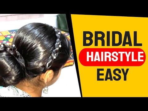 An Easy Braid with Bun hairstyle for Party//Wedding// Special  Occasions. thumbnail