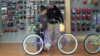 Beachbikes.com - Finding the right size beach cruiser bike for a women
