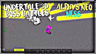 Roblox Undertale 3D Boss Battles: Alphys Neo & Ness (D7 Solo)