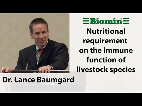 Nutritional requirement on the immune function of livestock species