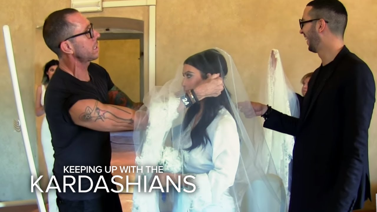 kuwtk kim kardashians wedding day drama e youtube