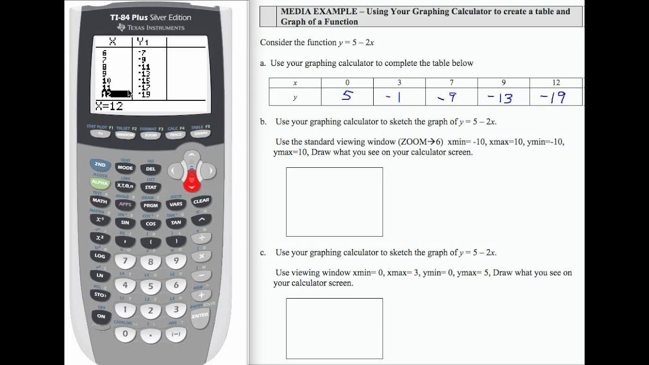 table and graph calculator | Brokeasshome.com