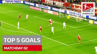 Top 5 Goals Bundesliga 2 Monster Long Range Goal More Matchday 02 2021 22