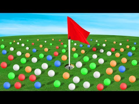 1000 GOLF BALLS VS HOLE IN ONE! (Golf It)