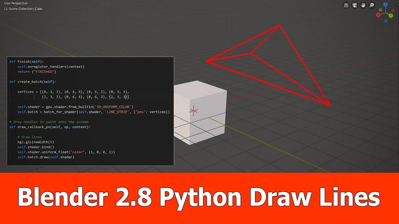 Blender 2 8 Python GPU : Draw Lines