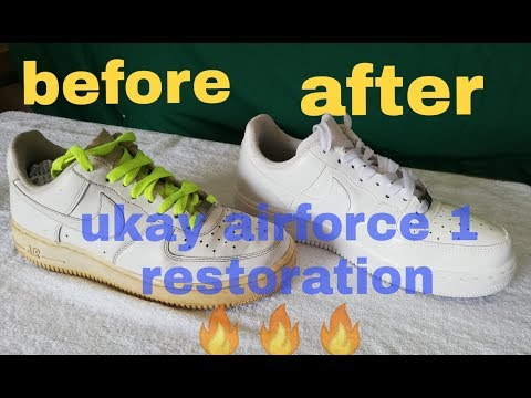 UKAY SHOES RESTORATION EPISODE 1: AIR FORCE 1's TRIPLE WHITE BY Feliciano// PAANO MAGRESTORE