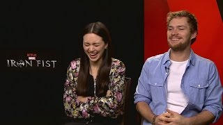 IRON FIST: Finn Jones & Jessica Henwick talk feet and earlobes?!