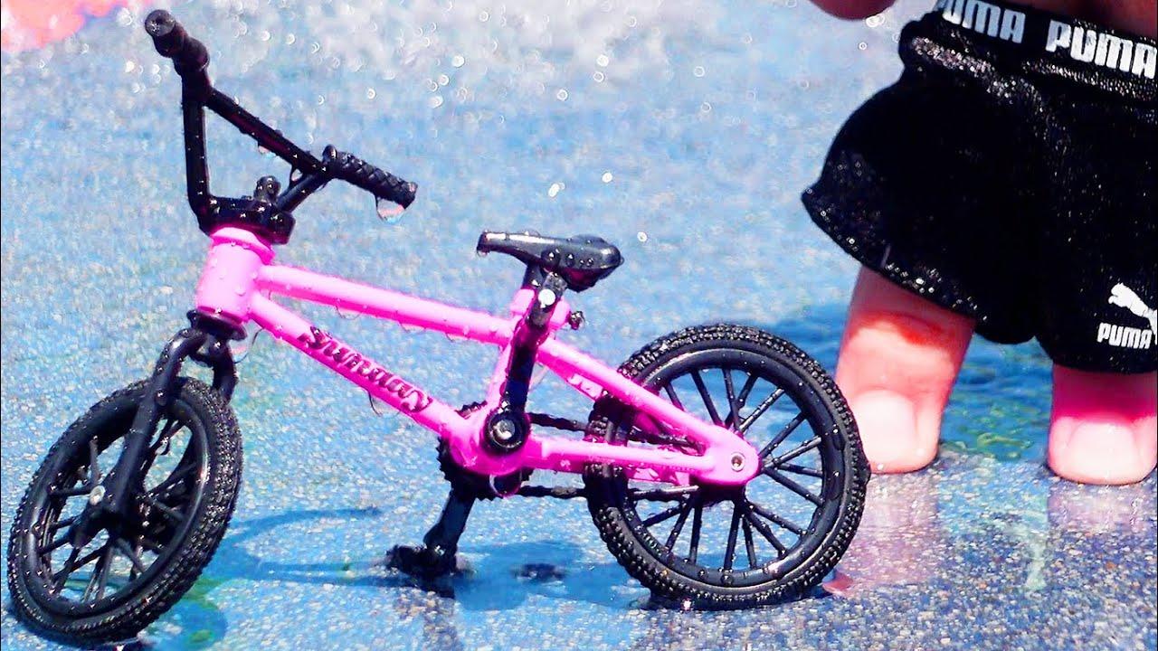 BMX Finger   Swimming in a Fountain Challenge   Bmx Pink Sunday Tech Deck
