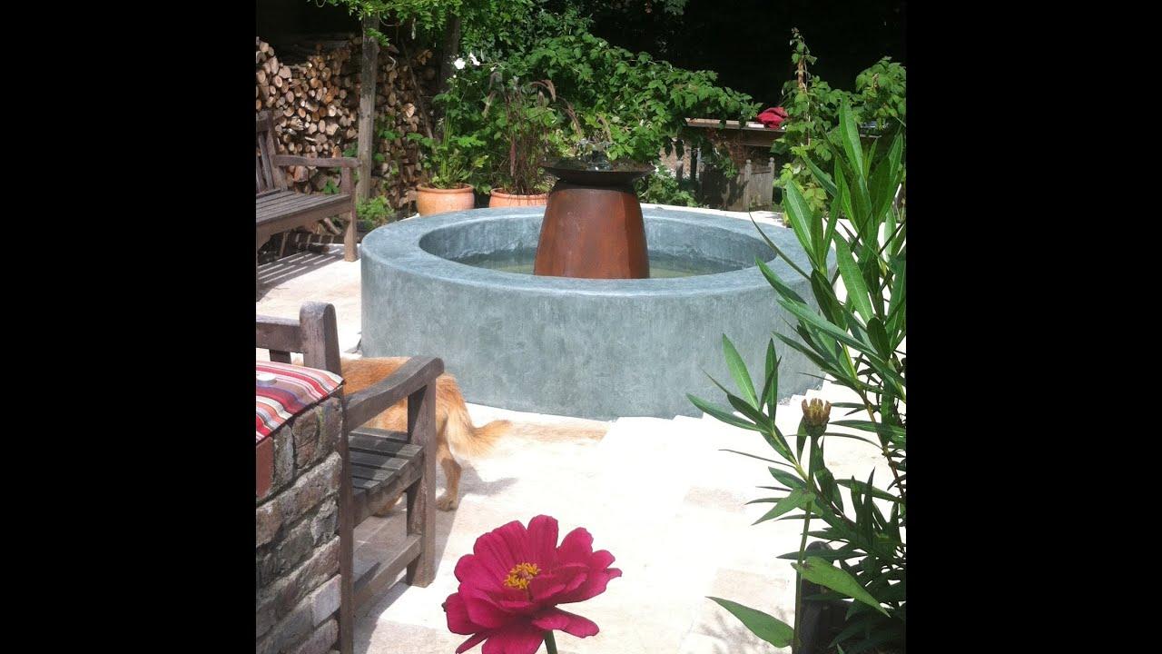 einen springbrunnen in handarbeit selber gemacht - youtube - Springbrunnen Selbst Bauen