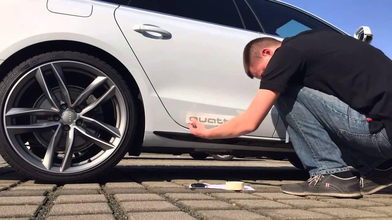 Audi Genuine Accessories Quattro Decals Youtube