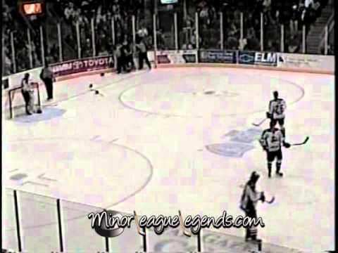 Jan 22, 2004 David Ambler vs Kris Mallette Muskegon Fury vs Elmira Jackals UHL