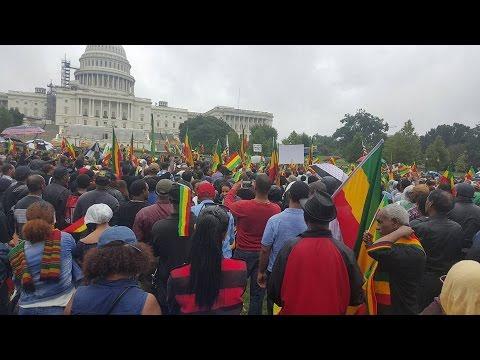 Ethiopia - Ethiopians in DMV Metro Area held massive demonstration in Washington, DC