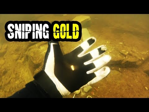 Finding A HUGE Amount Of Gold In A Deep Crevice Underwater