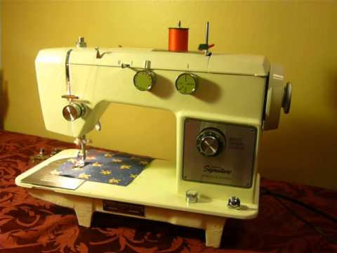NIFTYTHRIFTYGIRL Wards Signature UHT J40D Sewing Machine YouTube Enchanting Vintage Signature Sewing Machine