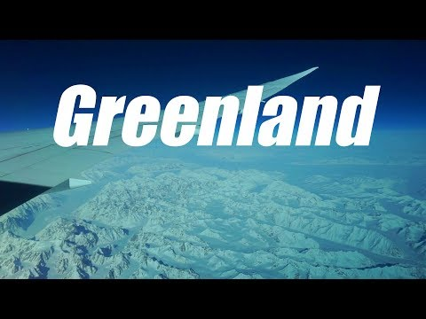 This is what Greenland looks like from the air...