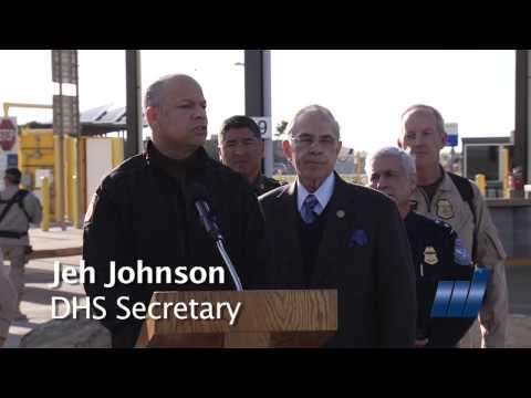 Jeh Johnson DHS Secretary visits McAllen Texas