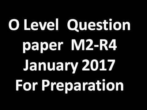 O level Question Paper M2-R4 January 2017 (Internet & Web Design)