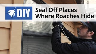 Seal off Places Where Roaches Hide