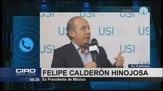 Que AMLO me culpe de lo que quiera, pero que se ponga a trabajar: Calderón