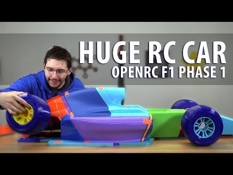 Worlds Largest OpenRC F1 Car - Phase 1 // 3D Printing the Parts (Matterhackers BUILD PLA / Pro Flex)