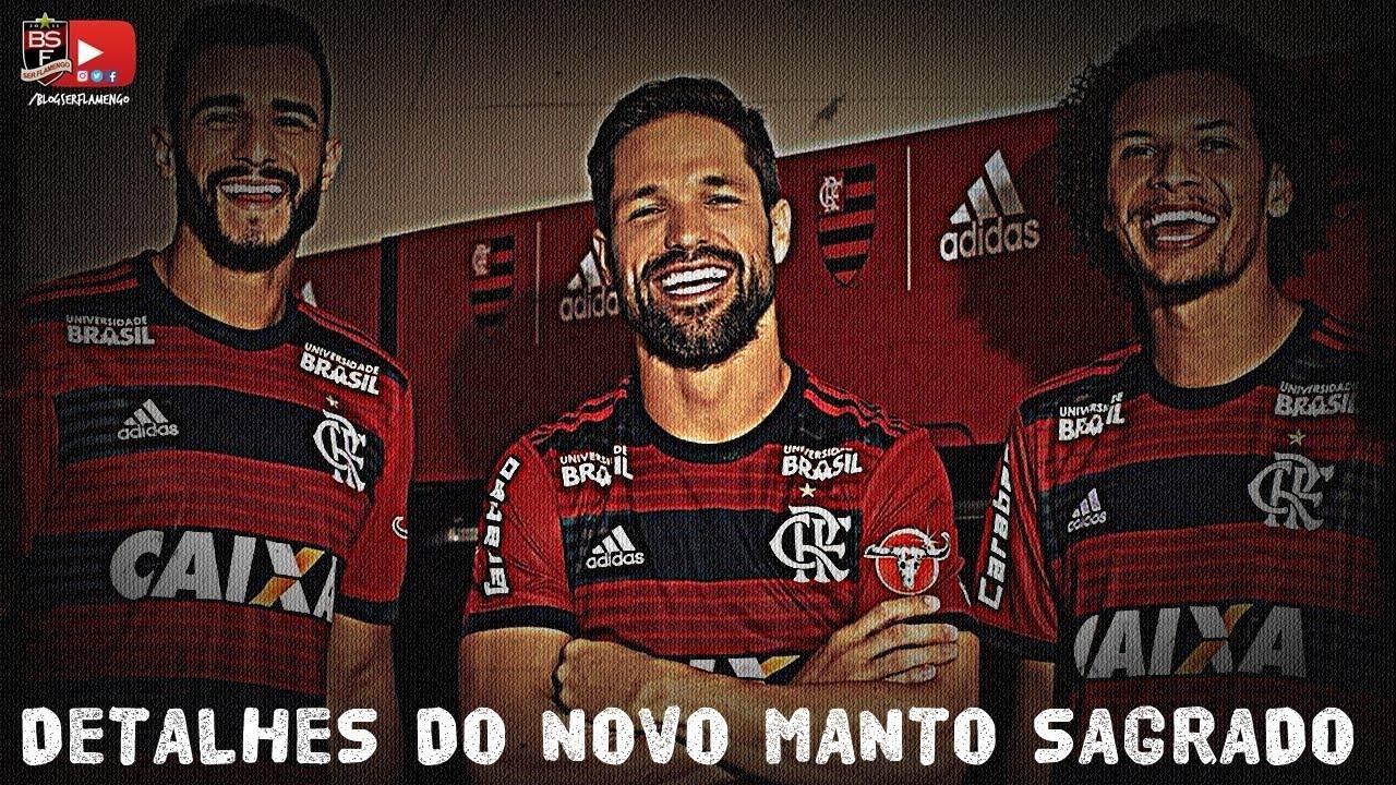Detalhes do novo Manto Sagrado Flamengo adidas - 2018 2019. BlogSerFlamengo 8ba5458584156
